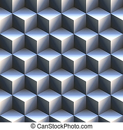 computer generated 3d staircase of blue and white cubes. tiles seamlessly