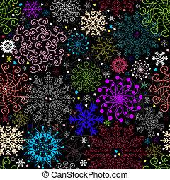 Repeating dark christmas pattern