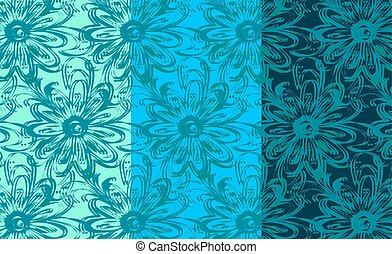 Repeating Floral Background Pattern.