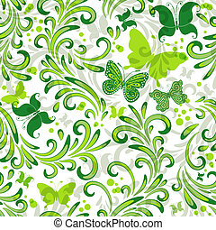 Repeating floral pattern - White repeating floral pattern...