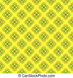 geometrical flower pattern design