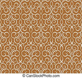 Repeating pattern on a brown. seamless wallpaper