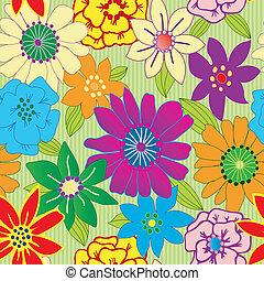 repeterende, blomst, farverig, seamless, baggrund