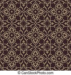 repeterende, vektor, baggrund, pattern., den, mønster, er,...