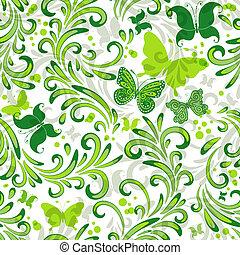 repetindo, padrão floral