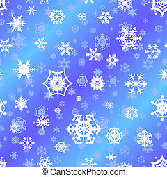 repetindo, vetorial, snowflake, backgrou