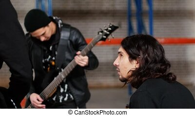 Repetition of a rock group. A drummer having a rest while the bassist playing