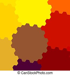 Repetitive Colorful Background - Abstract Pattern