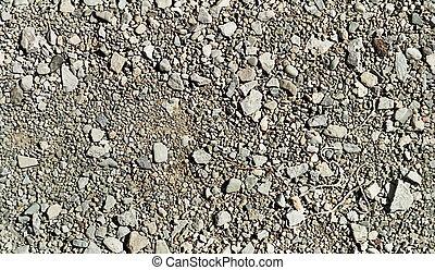 repetitivo, padrão, pedras, e, cascalho