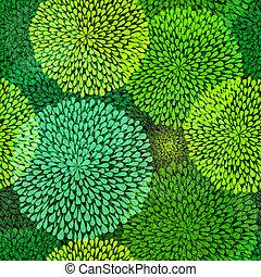 repetitivo, patrón, verde