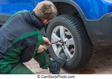 Replace summer tires against winter tires