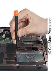 replacing a laptop hard disk drive