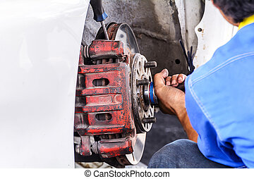 Replacing brakes vehicle