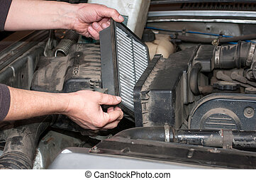 Replacing the air filter car