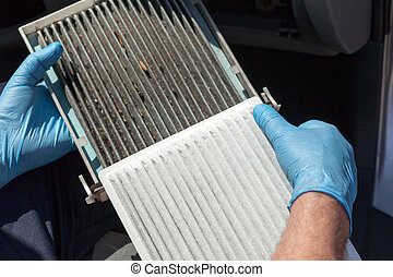 Replacing the cabin air filter