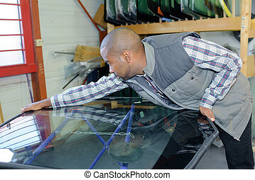 replacing the windshield