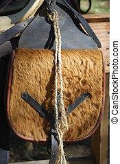 Replica antique saddlebag - Antique saddlebag made from...