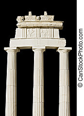 Replica of an ancient Greek temple (detail)