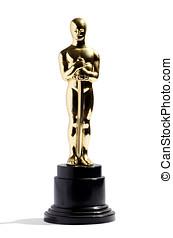Replica of an Oscar award - Golden replica of an Oscar film...