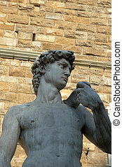 Replica of Michelangelo\'s David, Florence, Italy - Copy of...
