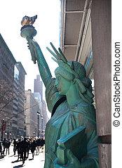 replica, statua, libertà