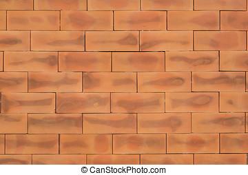 replicate., muur, model, voortdurend, -, seamless, illustratie, vector, textuur, achtergrond, baksteen, rood