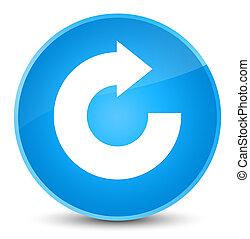 Reply arrow icon elegant cyan blue round button