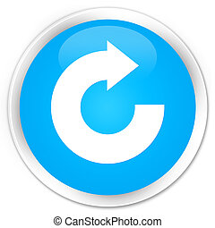 Reply arrow icon premium cyan blue round button