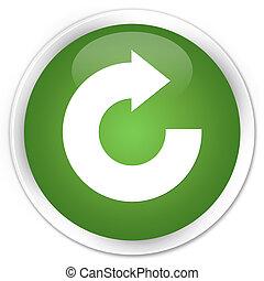 Reply arrow icon premium soft green round button
