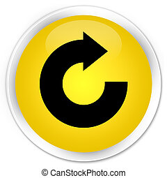 Reply arrow icon premium yellow round button