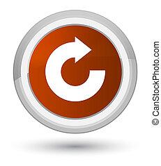 Reply arrow icon prime brown round button