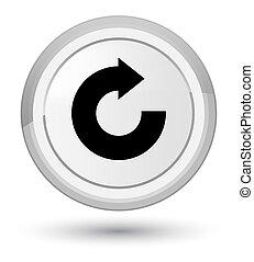 Reply arrow icon prime white round button