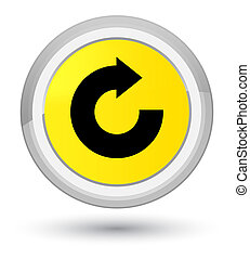 Reply arrow icon prime yellow round button