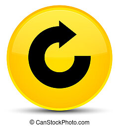 Reply arrow icon special yellow round button
