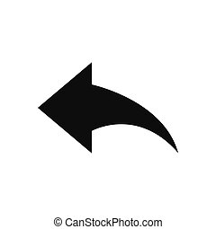 Reply arrow vector icon in modern design style for web site and mobile app