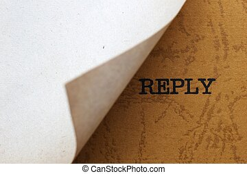Reply concept