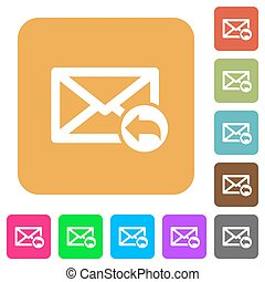 Reply mail rounded square flat icons