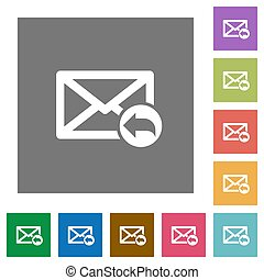 Reply mail square flat icons