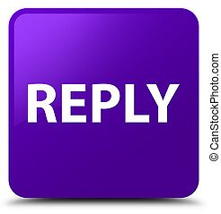 Reply purple square button