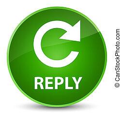 Reply (rotate arrow icon) elegant green round button