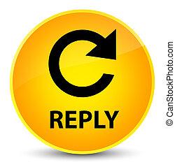 Reply (rotate arrow icon) elegant yellow round button
