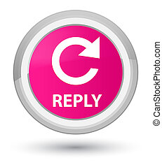 Reply (rotate arrow icon) prime pink round button