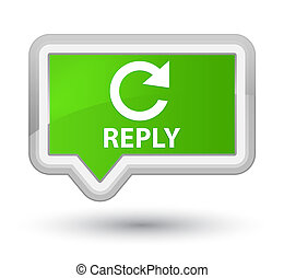 Reply (rotate arrow icon) prime soft green banner button