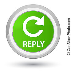 Reply (rotate arrow icon) prime soft green round button