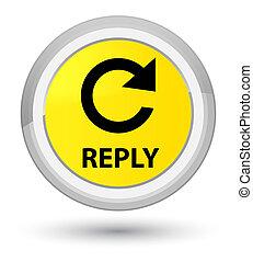 Reply (rotate arrow icon) prime yellow round button
