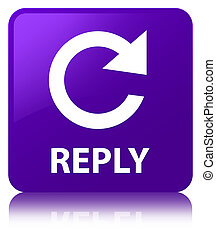 Reply (rotate arrow icon) purple square button