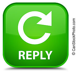 Reply (rotate arrow icon) special green square button - ...