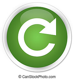 Reply rotate icon premium soft green round button