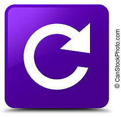 Reply rotate icon purple square button
