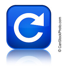 Reply rotate icon special blue square button